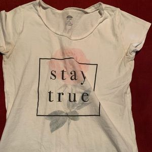 A old navy shirt with a quote!!!